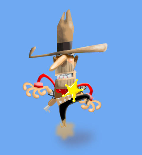 Walking Sheriff Animation