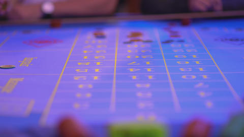 Roulette table in a casino - groupier removes lost tokens…, Live Action