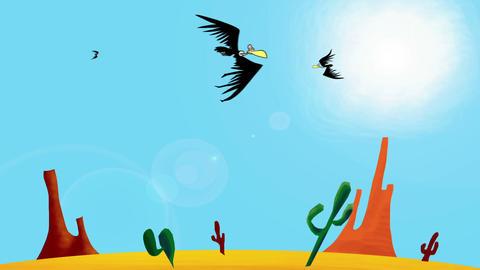 Vultures plus background Animation