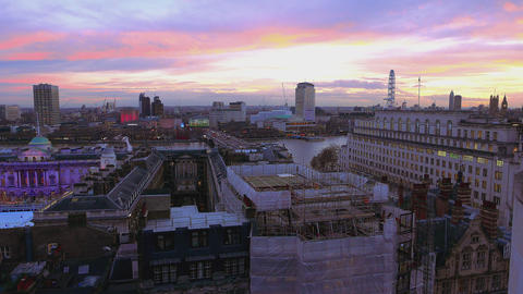 Beautiful sky over London Live Action