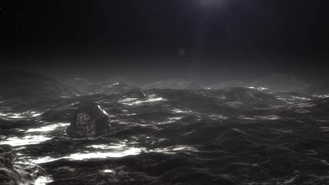 High quality animation of flight over Pluto's surface Animation
