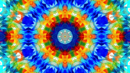 Loopable video 3840x2160 UHD - Abstract colorful kaleidoscopic background patter Footage