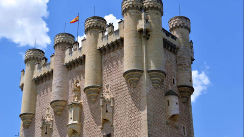 The Spanish Castle Alcazar Of Segovia, Spain, Europe Footage