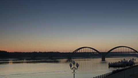 Time Lapse,Sunrise,Rybinsk,1080p,Full hd Stock Video Footage