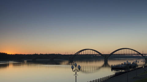 Time Lapse,Sunrise,Rybinsk,1080p,Full hd, Live Action