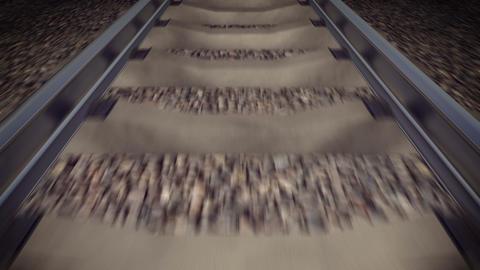 Railway. Outdoor landscape. Loop Stock Video Footage
