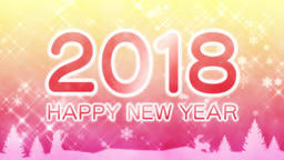 Happy New Year 2018 Animation