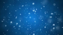 Snowflakes slowly falling with side wind, small and medium snow, loopable on Animation