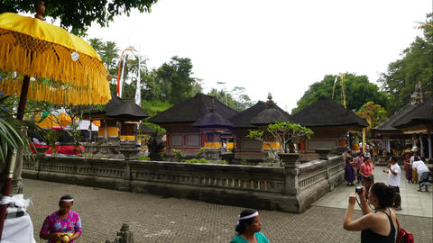 Time lapse, People possing at Tirta Empul Temple, Bali Footage