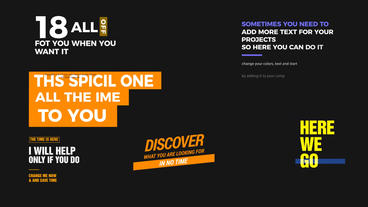 18 awesome title reveal After Effects Templates