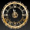 Gold New Year Clock on a transparent background Vector ベクター