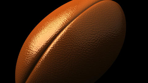 Rugby Ball On Black Background Animation