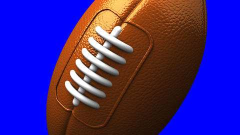 Rugby Ball On Blue Chorma Key CG動画