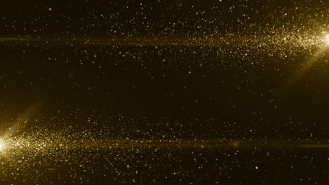 Gold particles bokeh glitter awards dust abstract background loop Animation
