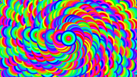 color spiral changing color. seamless loop ภาพวิดีโอ