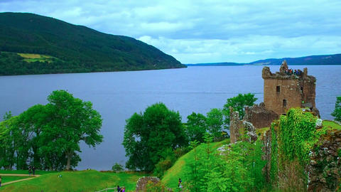 Urquhart Castle, Scotland Footage