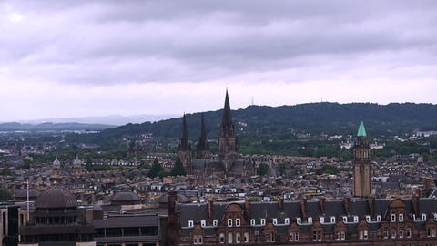 View of the city of Edinburgh Footage