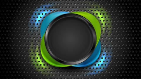 Blue and green round shapes with glowing illumination Animation