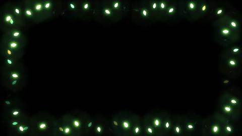 Christsmas Light Frame Garland Bulb - Green Color CG動画