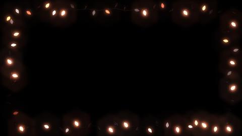 Christsmas Light Frame Garland Bulb - Warm Color Animation
