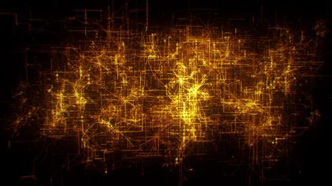 3D Gold MultiLayer Matrix Net Grid Intro Logo Motion Background Animation