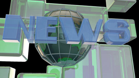 Broadcast news earth globe opening Intro title animation Footage