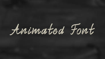 Semi-cursive Animated Font Apple Motion Template