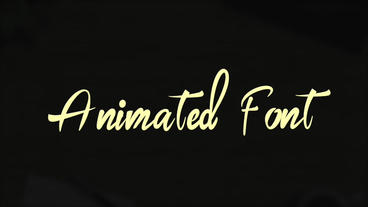 Hand Drawn Animated Font Apple Motion Template