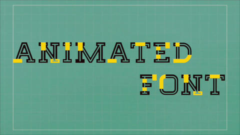 Animated Font 2