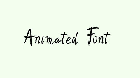 Quirky Animated Font Apple Motion Template