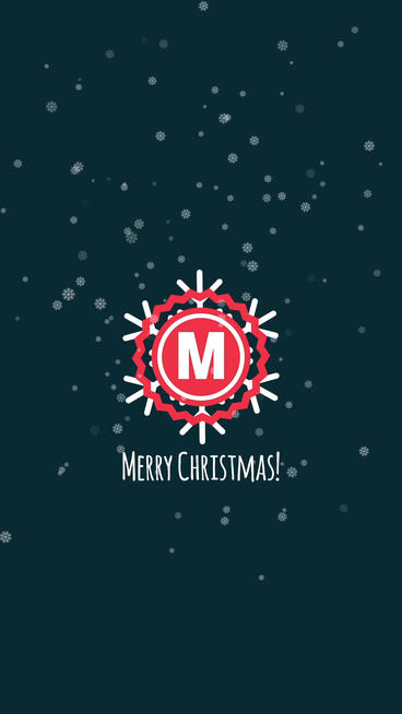 Christmas Logo Vertical Mobile Template After Effects Template