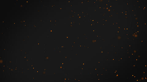 Abstract backgrond with orange floating bokeh particles Animation