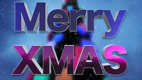 Merry XMAS Background Loop Footage