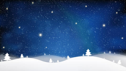Merry Christmas and New Year of effect blue snow star light background on blue Footage