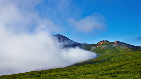 Summer landscape with old vulkane Footage