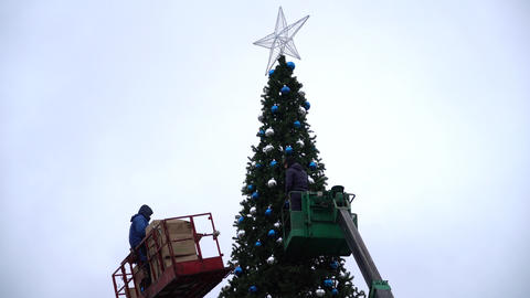 View Of The Main Christmas Tree Of The City 1