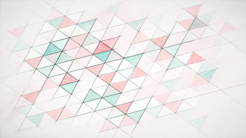 Hand drawn geometric abstract background on paper Animation