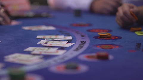 Gambling black jack in a casino Live Action