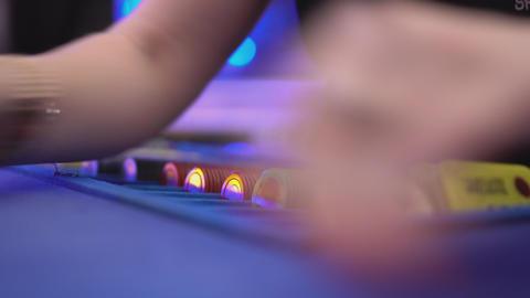 Dealing cards on Black Jack table Live Action