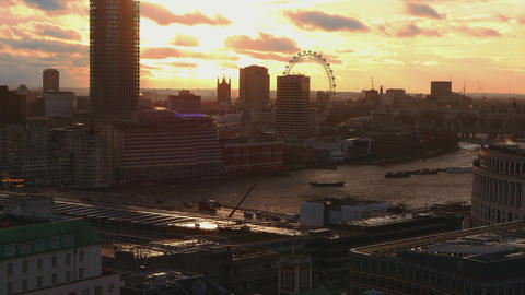 Sunset over London Live Action