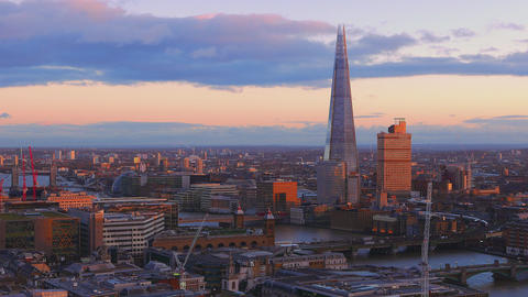 London from above in the evening sun Live Action