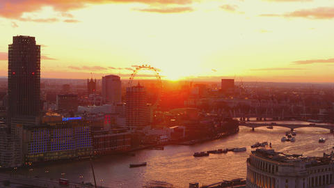 Amazing London skyline at sunset Live Action