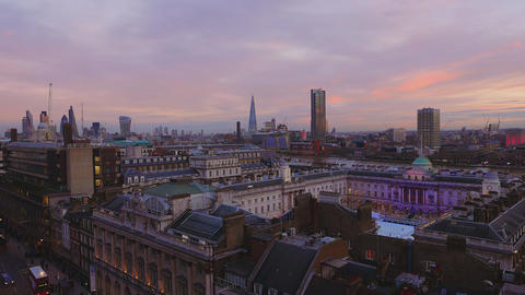 The Somerset House in London from above Live Action