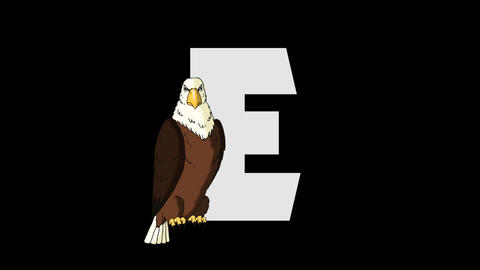 Letter E and Eagle (foreground) Animation