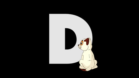 Letter D and Dog (foreground) Animation