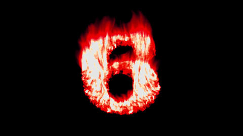 Flame countdown fire top 10 ten font hot numbers overlay 4k Footage