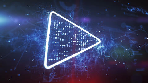 Play button icon Stock Video Footage