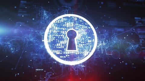 Keyhole. Internet Security Concept Animation
