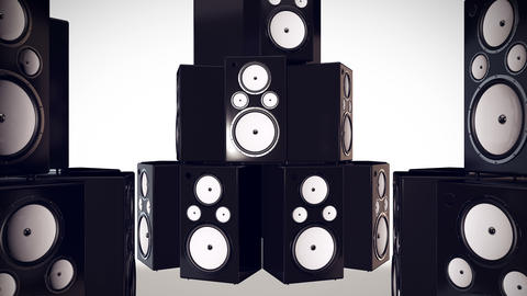Thumping Bass Speakers Animation
