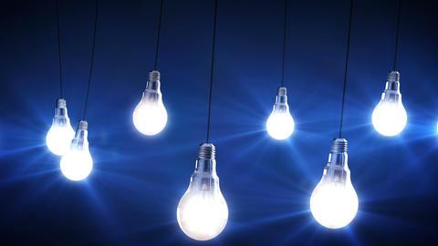 idea concept with light bulbs Animation